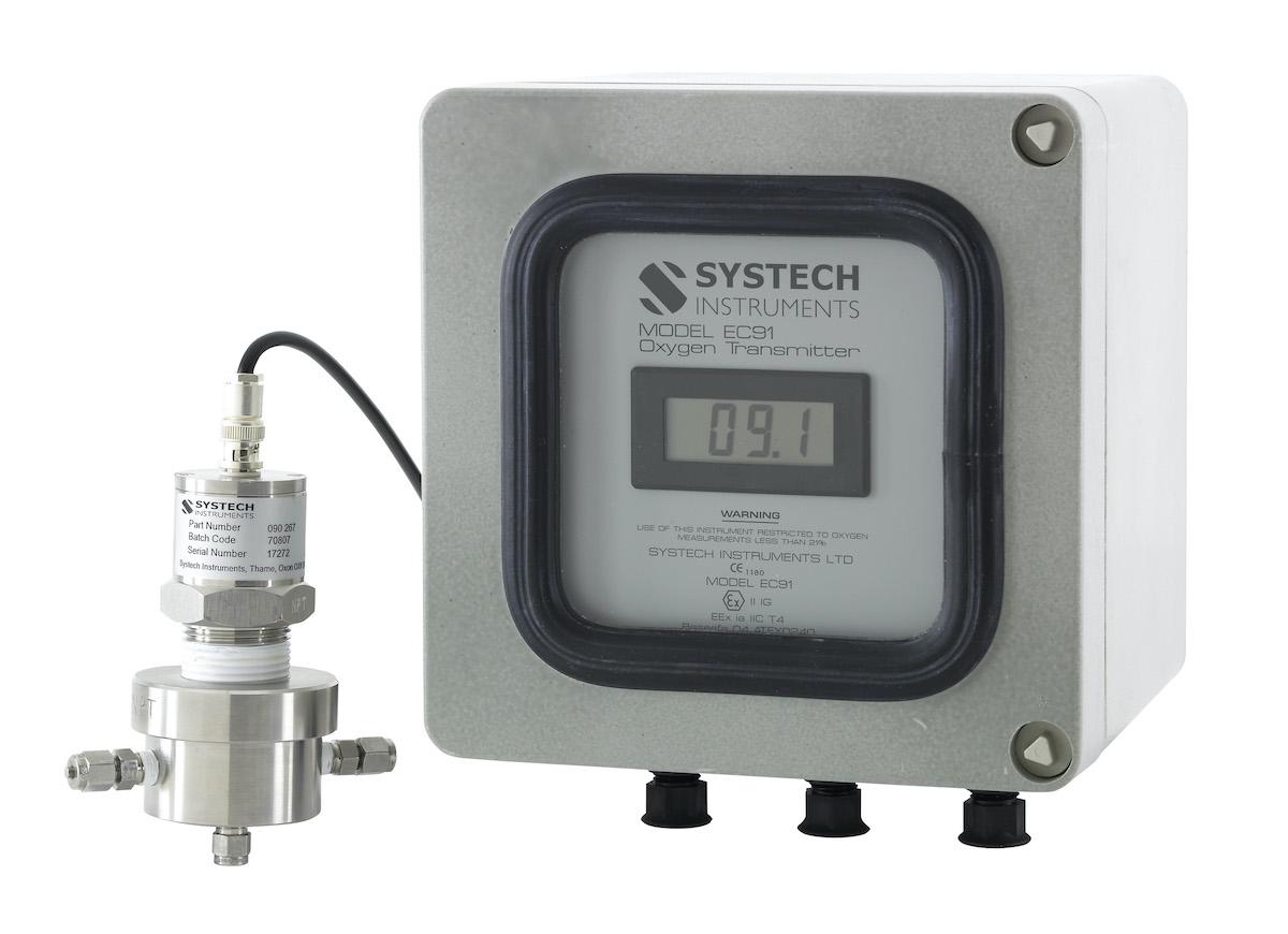 Промышленный анализатор кислорода, модель ЕС91