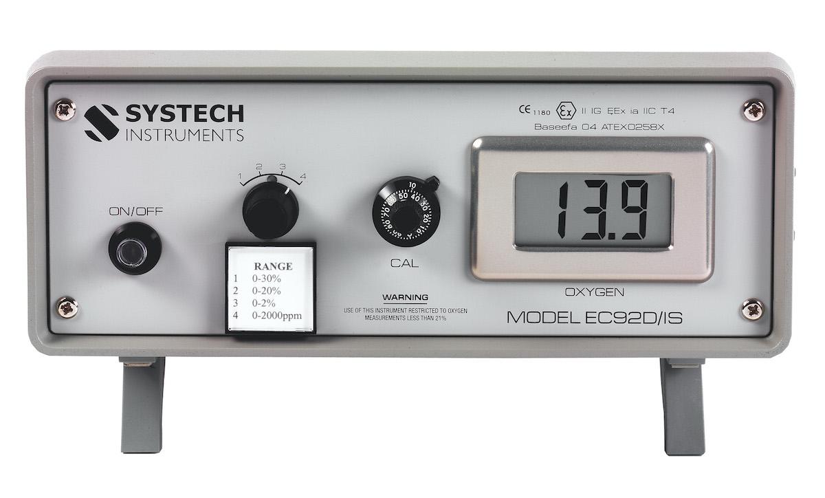 Портативный анализатор кислорода, модель ЕС92DIS