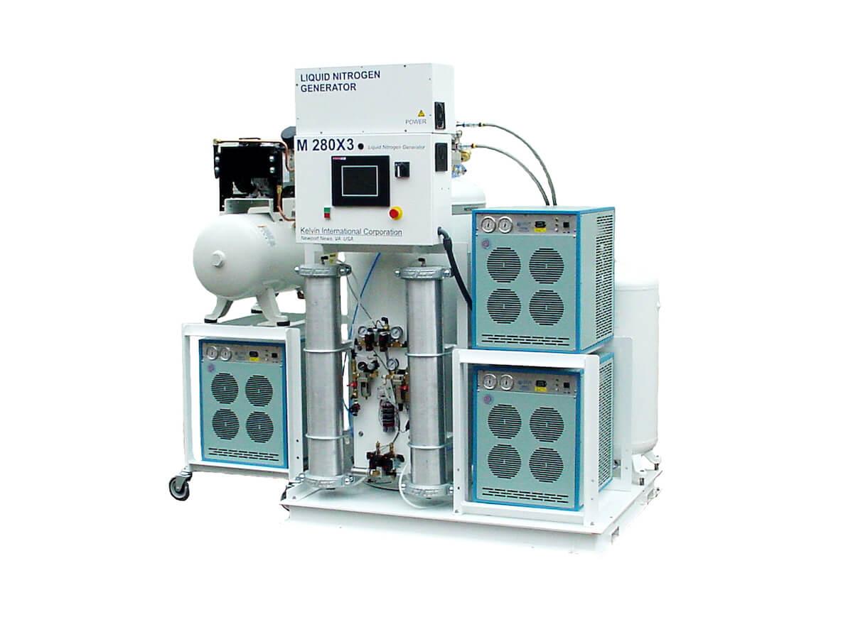 Генератор жидкого азота nl280x3 производительностью 150 литров в сутки